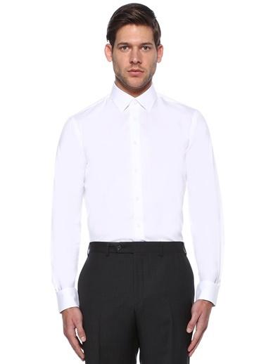Beymen Collection Uzun Kollu Klasik Gömlek Beyaz
